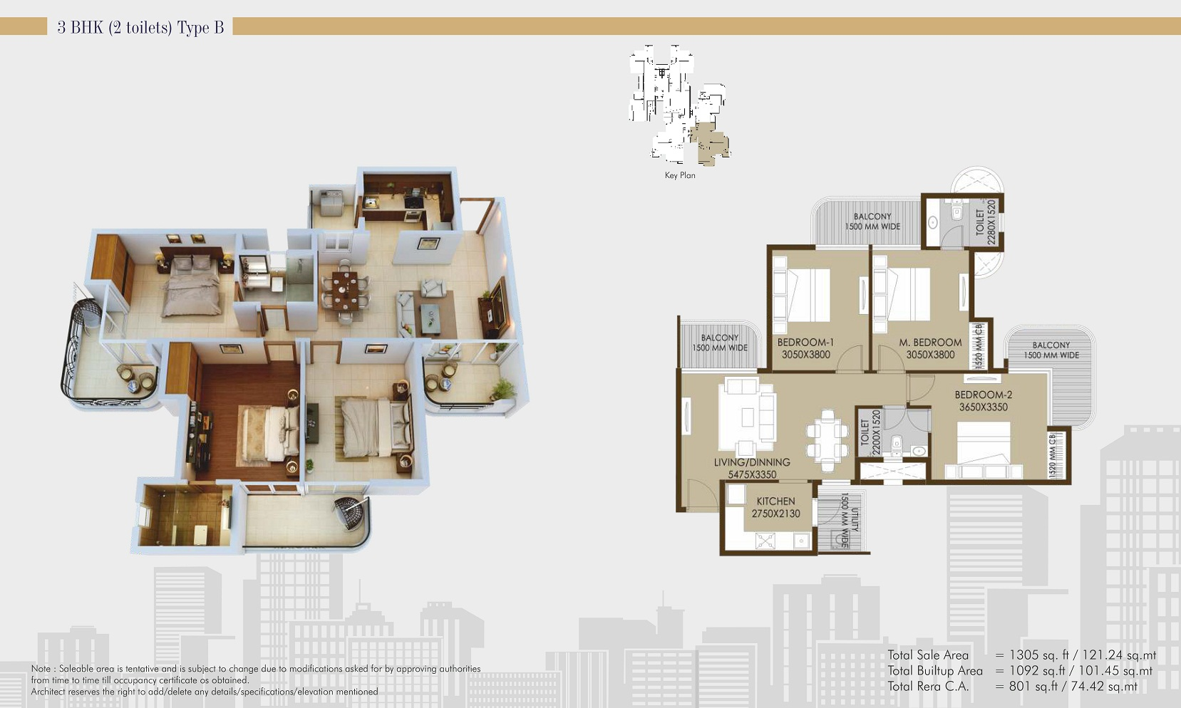 CRC Sublimis 2BHK 1305 sqft
