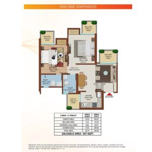 Ajnara Olive Greens Tower Floor Plan
