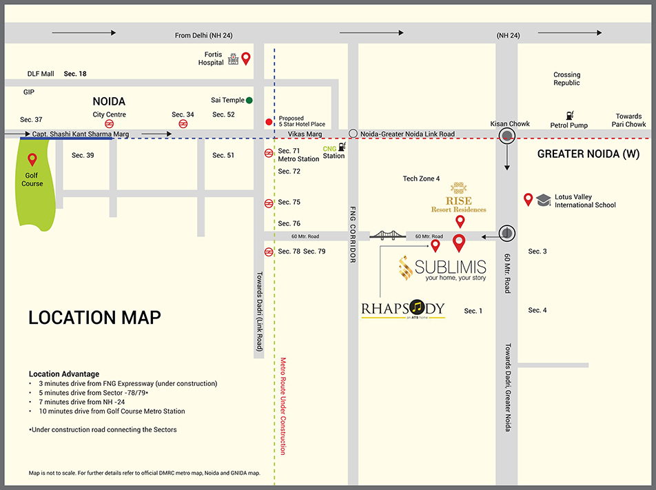 CRC Sublimis Location Noida Extension